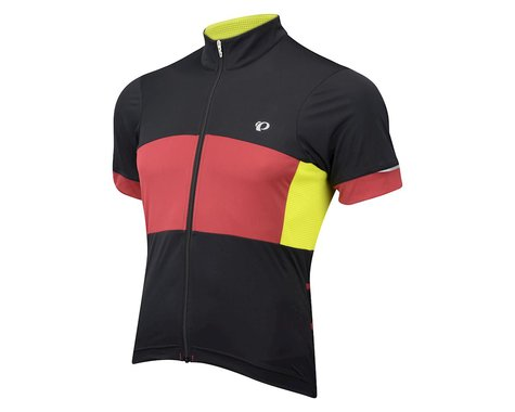 Pearl Izumi Elite Escape Semi-Form Short Sleeve Jersey (Black / Green)