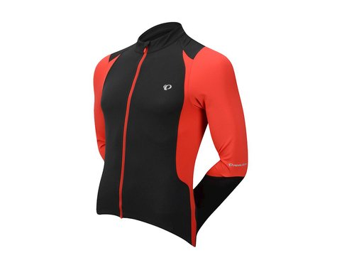 Pearl Izumi Select Pursuit Long Sleeve Jersey (Black/Red) (Medium)