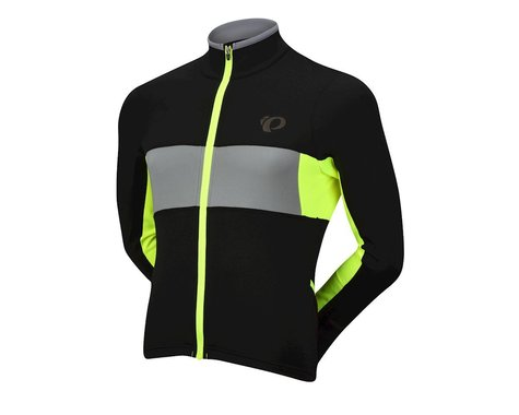 Pearl Izumi Elite Escape Thermal Long Sleeve Jersey (Black/Screaming Yellow)