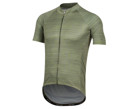 Pearl Izumi Elite Pursuit Graphic Short Sleeve Jersey (Willow/Forest Stripe) (XL)
