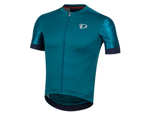 Pearl Izumi Elite Pursuit Speed Short Sleeve Jersey (Teal/Navy Paisley) (M)