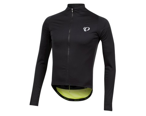 Pearl Izumi PRO Pursuit Long Sleeve Wind Jersey (Black/Screaming Yellow) (M)
