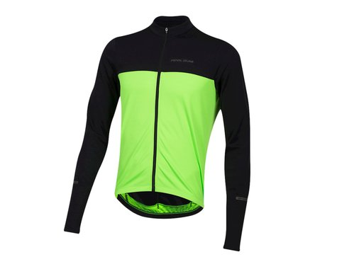 Pearl Izumi Quest Long Sleeve Jersey (Black/Screaming Green)
