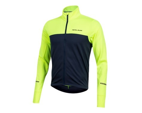 Pearl Izumi Quest Thermal Long Sleeve Jersey (Screaming Yellow/Navy) (L)