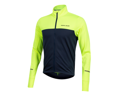 Pearl Izumi Quest Thermal Long Sleeve Jersey (Screaming Yellow/Navy) (2XL)