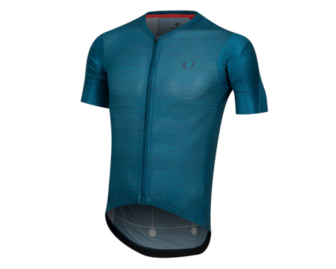 Pearl Izumi Men's PRO Mesh Short Sleeve Jersey (Teal/Navy Stripe) (XL)