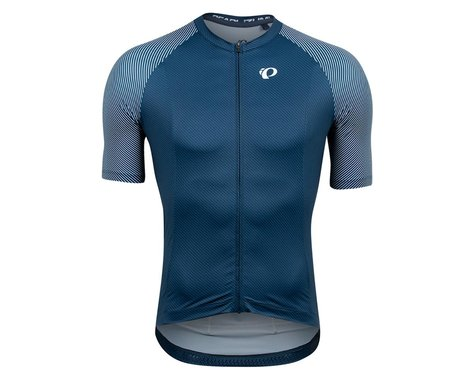 Pearl Izumi Interval Short Sleeve Jersey (Navy/White Bevel) (S)