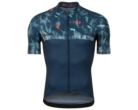 Pearl Izumi Men's Attack Short Sleeve Jersey (Navy Disrupt) (M)