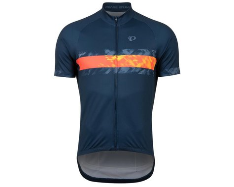 Pearl Izumi Men's Classic Short Sleeve Jersey (Navy/Screaming Red Disrupt) (S)