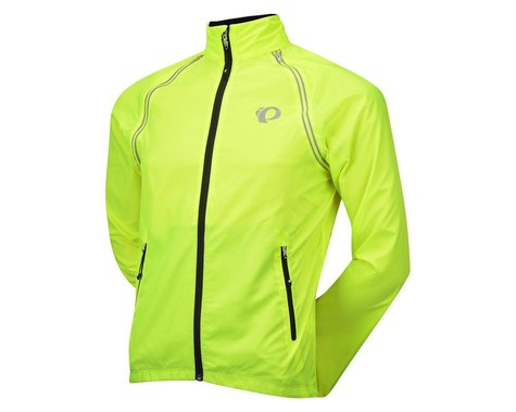 Pearl Izumi ELITE Barrier Convertible Jacket (Black/Screaming Pink) (Medium)