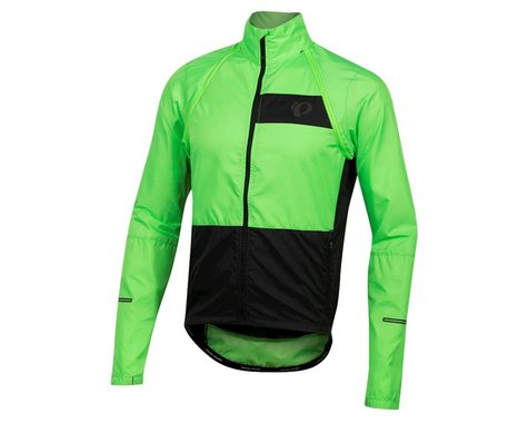 Pearl Izumi Elite Escape Convertible Jacket (Screaming Green/Black) (L)