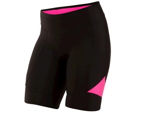 Pearl Izumi Women's Select Pursuit Short (Black/Screaming Pink)