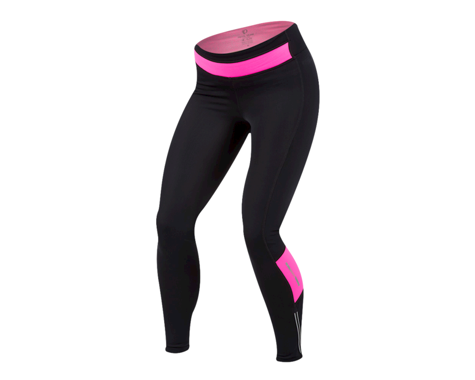 Pearl Izumi Women's Pursuit Thermal Tight (Black/Screaming Pink) (2XL)