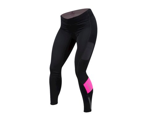 Pearl Izumi Women's Escape Sugar Thermal Cycle Tight (Black/Screaming Pink)
