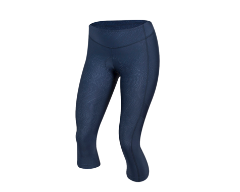 Pearl Izumi Women's Escape Sugar Cycle 3/4 Tight (Navy Phyllite Texture) (XL)