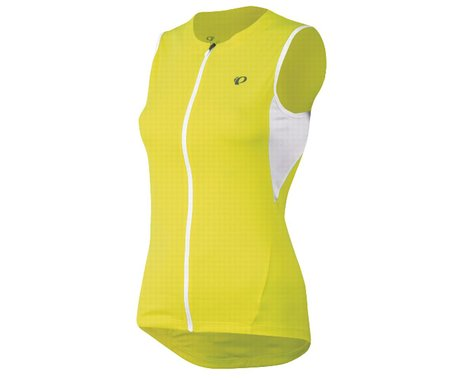 Pearl Izumi Women's SELECT Sleeveless Jersey (Screaming Yellow) (Large 37.5-40)