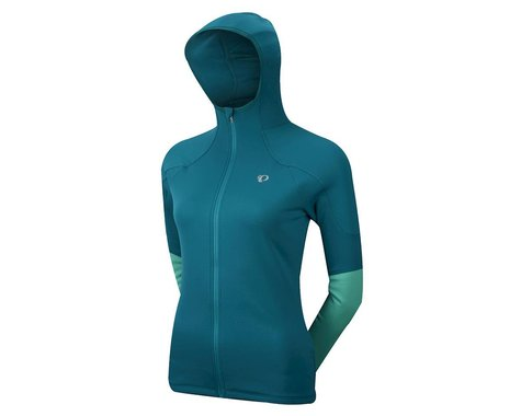 Pearl Izumi Women's ELITE Thermal Hoody (Deep Lake/Gumdrop Green)