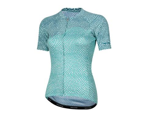 Pearl Izumi Women's Elite Pursuit Short Sleeve Jersey (Glacier/Teal Kimono) (M)