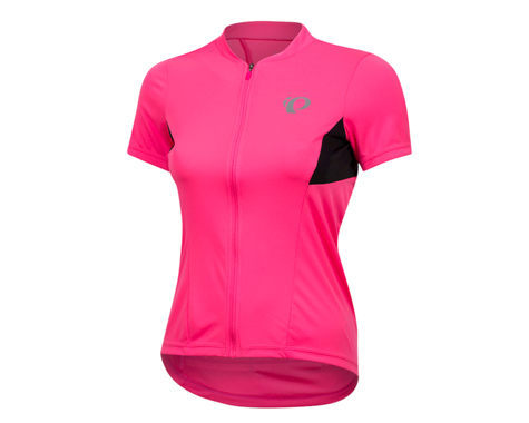 Pearl Izumi Women's Select Pursuit Short Sleeve Jersey (Screaming Pink/Black) (L)