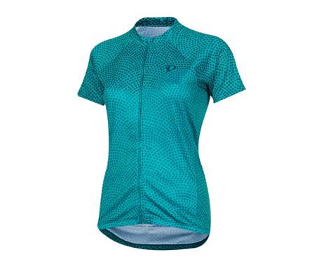 Pearl Izumi Women's Select Pursuit Short Sleeve Jersey (Breeze/Teal Kimono)