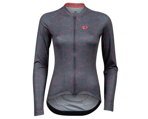 Pearl Izumi Women's Attack Long Sleeve Jersey (Turbulence/Atomic Red Origami) (XL)