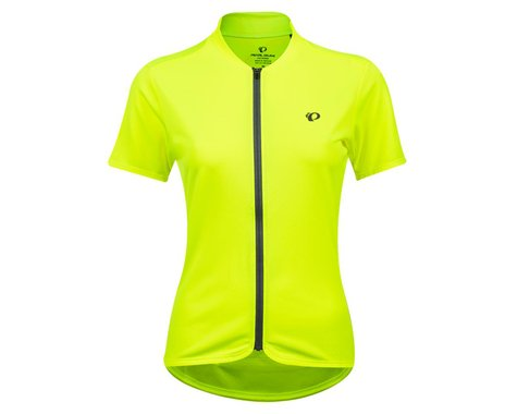 Pearl Izumi Women's Quest Short Sleeve Jersey (Screaming Yellow/Turbulence) (M)