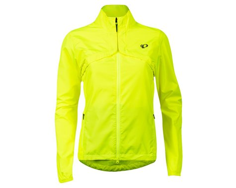 Pearl Izumi Women's Quest Barrier Convertible Jacket (Screaming Yellow/Turbulence) (XL)