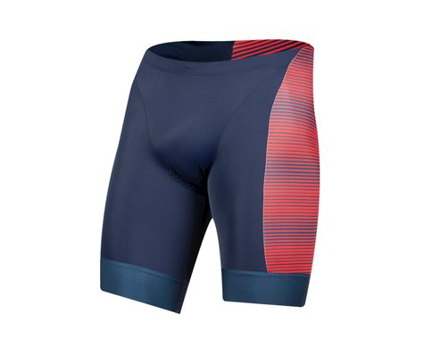 Pearl Izumi Elite Graphic Tri Short (Torch Red/Navy Stripe) (2XL)