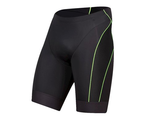 Pearl Izumi Elite Tri Shorts (Black/Screaming Green) (XS)