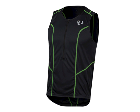 Pearl Izumi Select Pursuit Tri Jersey (Black/Screaming Green) (2XL)