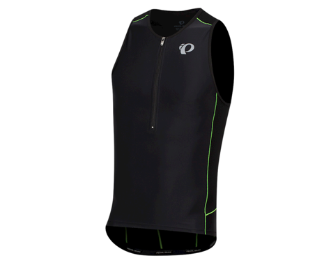 Pearl Izumi Elite Pursuit Tri Singlet (Black/Screaming Green) (L)