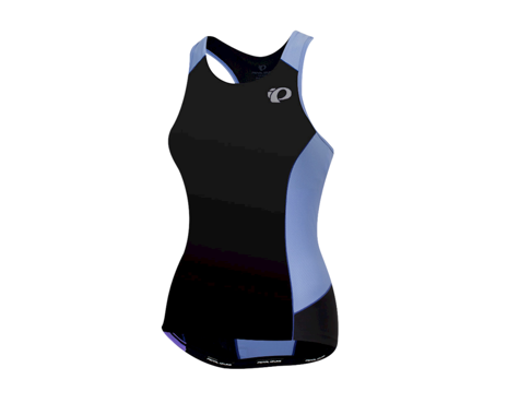 Pearl Izumi Women's Elite Pursuit Tri Tank (Black/Lavender) (XL)
