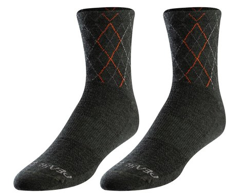Pearl Izumi Merino Wool Sock (Forest/Flame Crossing) (M)