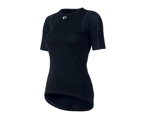 Pearl Izumi Womens Transfer Short Sleeve Wool Baselayer (Black) (XL)