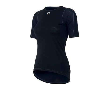 Pearl Izumi Womens Transfer Short Sleeve Wool Baselayer (Black) (XS)