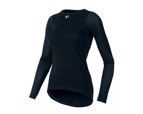 Pearl Izumi Womens Transfer Long Sleeve Wool Baselayer (Black) (XL)
