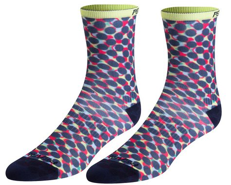 Pearl Izumi Women's PRO Tall Socks (Sunny Lime Layer Dot) (S)