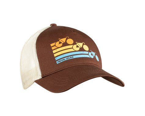 Pearl Izumi Recycled Trucker Hat (Bike Stripe Brown)
