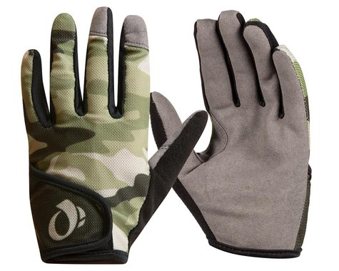 Pearl Izumi Jr. Long Finger Mountain Gloves (Green Camo) (S)