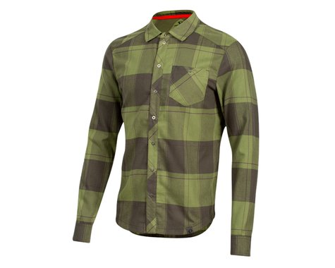 Pearl Izumi Rove Long Sleeve Shirt (Forest/Willow Plaid) (L)