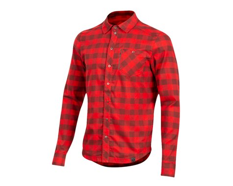 Pearl Izumi Rove Long Sleeve Shirt (Torch Red/Russet Plaid) (2XL)