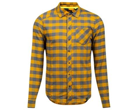 Pearl Izumi Rove Long Sleeve Shirt (Turbulence/Gold Plaid) (XL)