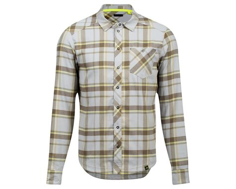 Pearl Izumi Rove Long Sleeve Shirt (Dark Olive/Fog Plaid) (XL)
