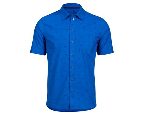 Pearl Izumi Rove Short Sleeve Shirt (Lapis Bike Rack) (S)