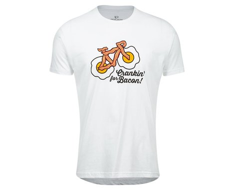 Pearl Izumi Go-To Tee Shirt (White Crankin Bacon) (XL)