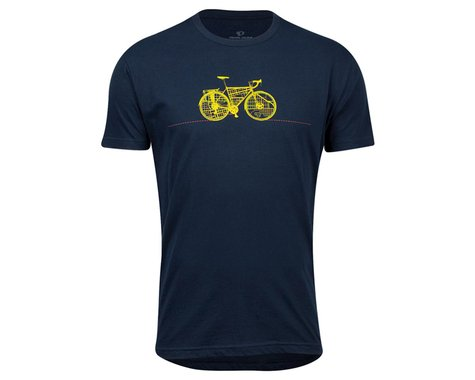Pearl Izumi Go-To Tee Shirt (Midnight Navy Commuter Line) (XL)