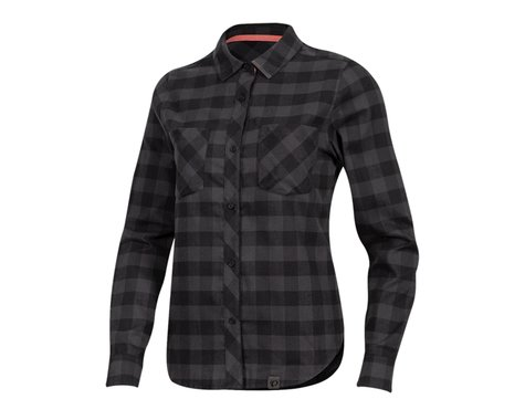 Pearl Izumi Women's Rove Long Sleeve Shirt (Black/Phantom Plaid) (XS)