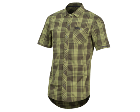 Pearl Izumi Short Sleeve Buttom-up (Forest Plaid) (M)