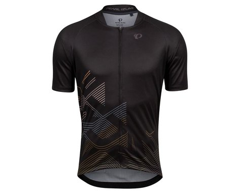 Pearl Izumi Canyon Graphic Short Sleeve Jersey (Black/Berm Brown Echo) (S)