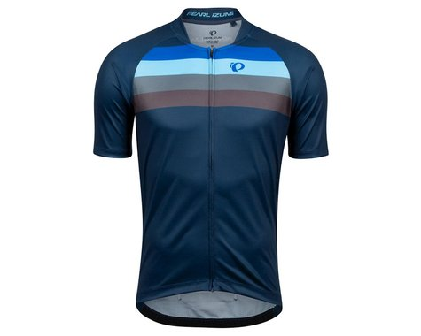 Pearl Izumi Canyon Graphic Short Sleeve Jersey (Navy/Lapis Aspect) (M)